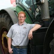 Michael Schweizer - Fachkraft Agrarservice und seit 2012 in Festanstellung - Einsatzgebiet: Häcksel- und Ladewagen, Gülle fahren