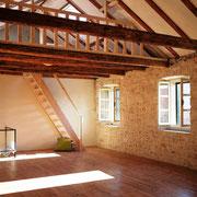 Galerie im Yogaraum - mit schönem Blick über die Bucht