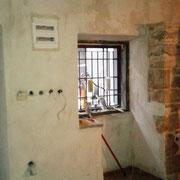 neue Wände in der Konoba