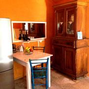 die alte Küche ist heute ein Doppelzimmer
