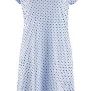 Slaapkleed Gloria in 100% bio-katoen jersey, lichtblauw met donkerblauwe stippen, Living Crafts, beschikbaar in de maten XS, M en L, prijs: 29,99 €