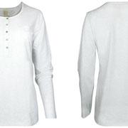 Nachthemd met lange mouwen in 100% bio-katoen tricot, ecru melange, Comazo Earth, beschikbaar in de maten 36; 38; 40; 42; 44 en 46, prijs: 37,95 €