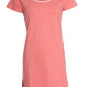 Slaapkleed in 100% bio-katoen tricot, flamingo rood, Antichi, beschikbaar in de maten 34; 36; 38; 42; 44 en 46, prijs: 34,10 €