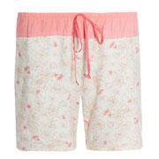 Pyjamashort in 100% bio-katoen tricot, flamingo rood/zacht bedrukt, Antichi, beschikbaar in de maten 34; 36; 40; 42 en 44, prijs: maat 34-40: 34,10 €, maat 42-44: 36,80 €