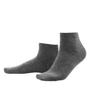 Sneakersokken Curt in bio-katoen met 2% elastaan, anthracietgrijs, Living Crafts