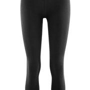 7/8-Legging Clara in 92% bio-katoen en 8% elastaan jersey, zwart, Living Crafts, beschikbaar in de maten XS, S, M, L en XL