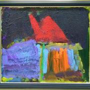 山2、530×455、油彩 キャンヴァス、2017
