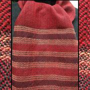 handgewebter Schal in rot Orange