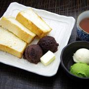 あんこトースト(アイス添え)