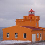 Der Leuchtturm unterhalb des Sléttahlið