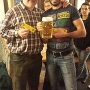 Auf dem dritten Platz: Thomas Dellweg und Markus Penning