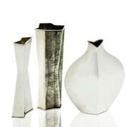 Tapio Wirkkala set of three Sterling vases, Finland, 1966