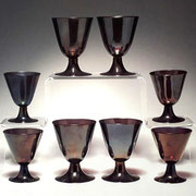 Venini Irisdescent Wine Glasses, 1940s