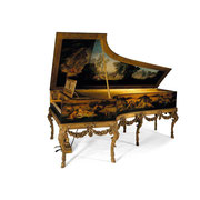 A French pianoforte converted in 1874 by Erard and Zeitter from a 17th century Flemish harpsichord by a member of the Ruckers family; the painting on the lid of the pianoforte from the circle of Nicholas Lancret (1690-1745) © 2015 Sotheby's