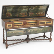 Virginal by Adam Leversidge, London, 1666, English, 17th century, The Belle Skinner Collection ® Yale University Collection of Musical Instruments