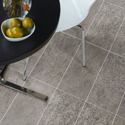 Light grey grout for a brighter floor.