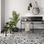 Spice up a minimalist space with a playful blend of patterns
