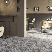 A tile with multiple colors is a great base from which to extract paint and furniture colors.