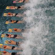 SVA-Athleten schwimmen sich ein - Energie pur!