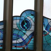 Ein kunstvolles Fenster im Detail