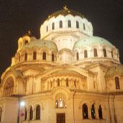 夜のネフスキー寺院