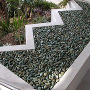 Waverley, Sydney - resin-bound pebbles for entry undercroft of apartment building