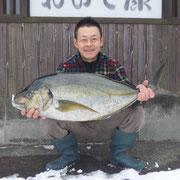 一本釣り シマアジ