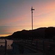 福井の海。綺麗な朝焼け。