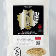 岡山県産木村式自然栽培米「朝日」 玄米 320g(約2合)  527円