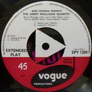 Gerry Mulligan Quartet - Vogue EPV1200
