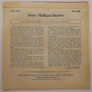 Gerry Mulligan Quartet - Vogue EPV1070