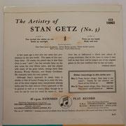 Stan Getz - The Artistry Of Stan Getz No.3 - Columbia SEB10063
