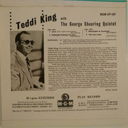 Teddy King With The George Shearing Quintet - MGM EP 567