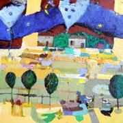 - Muldenpromenade -(78x112) (2005) Öl auf Leinwand