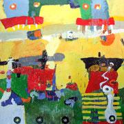 -Karneval - (2000) Öl auf Leinwand 135x185