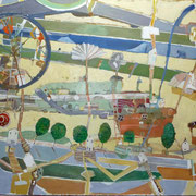 -Das Rad- (2012) Öl auf Leinwand   (135cm x185 cm )