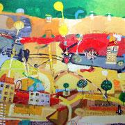 - Heiße Kleinstadt - (2003) Öl auf Leinwand  135x185