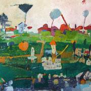 -Sächsische Langweile - (2002) Öl auf Leinwand 135x185