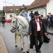 Reiter-Chef Stautner war heuer zu Fuß unterwegs.