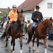 Bürgermeister Markus Ackermann ritt neben Trenck Werner Zellmer.