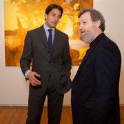 Dennis Paul and curator Danilo Eccher