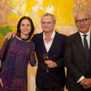 Caterina Viale, artist Max Pellegrini, Riccardo Viale, Director of the Italian Cultural Institute