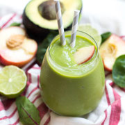 Creamy Green Avocado-Peach Smoothie Recipe