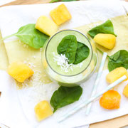Green mango coconut smoothie recipe