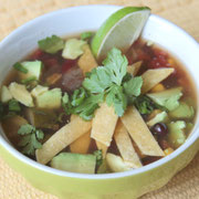 comforting healthy tortilla soup made in the slow cooker!  Vegan recipe! - by homemade nutrition - www.homemadenutrition.com