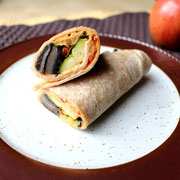 roasted vegetable wrap (vegan) with hummus