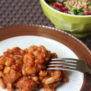 healthy baked beans and ham - delicious! - by homemade nutrition - www.homemadenutrition.com