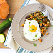roasted veggie hash with eggs recipe