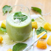 Tropical Green Pineapple Coconut Smoothie Recipe