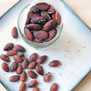 homemade rosted almonds with rosemary, salt, and pepper - by homemade nutrition